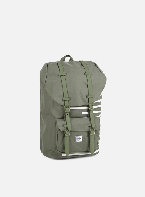 accessori herschel little america offset backpack deep lichen green