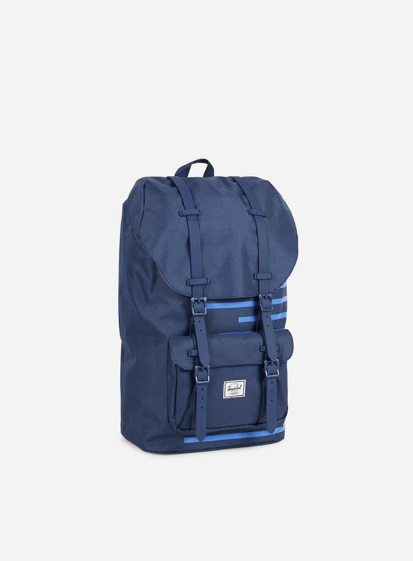 Herschel - Little America Offset Backpack, Navy/Cobalt