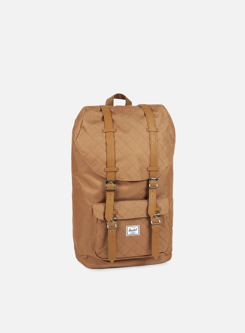 accessori herschel little america quilted backpack caramel