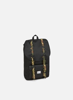 Herschel - Little America Rubber Classic Backpack, Black/Woodland Camo