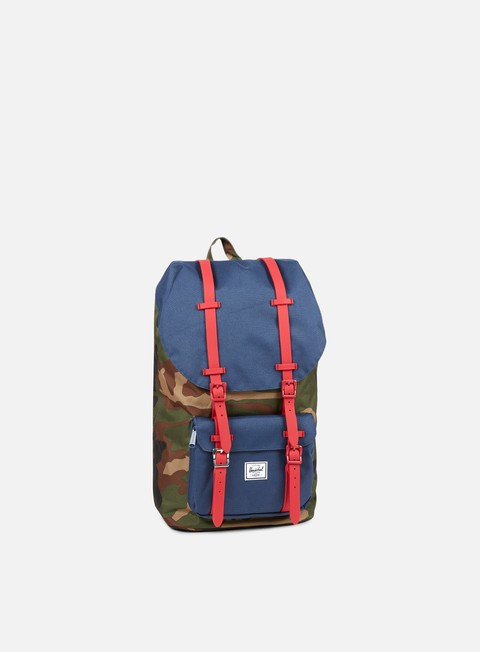 accessori herschel little america rubber classic backpack woodland camo navy red