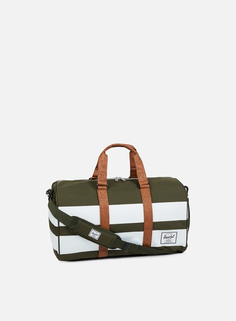 accessori herschel novel classic bag forest night white rugby stripe