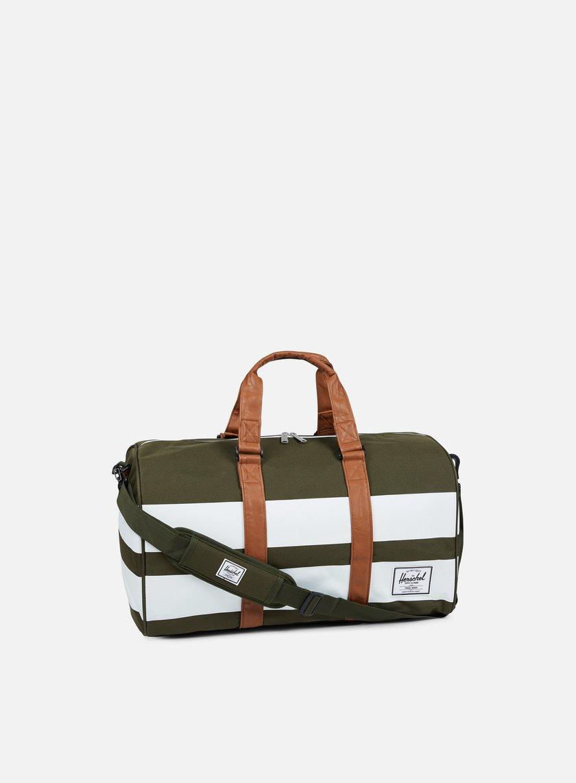 Herschel - Novel Classic Bag, Forest Night/White Rugby Stripe