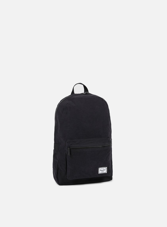 Herschel - Packable Cotton Daypack Backpack, Black