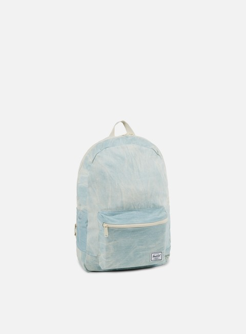 accessori herschel packable cotton daypack backpack bleach denim