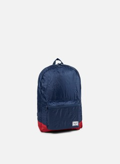 Herschel - Packable Daypack Backpack, Navy/Red