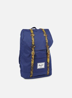 Herschel - Retreat Backpack Tortoise, Twilight Blue/Tortoise 1