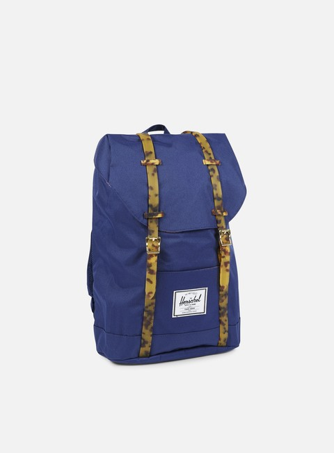 accessori herschel retreat backpack tortoise twilight blue tortoise