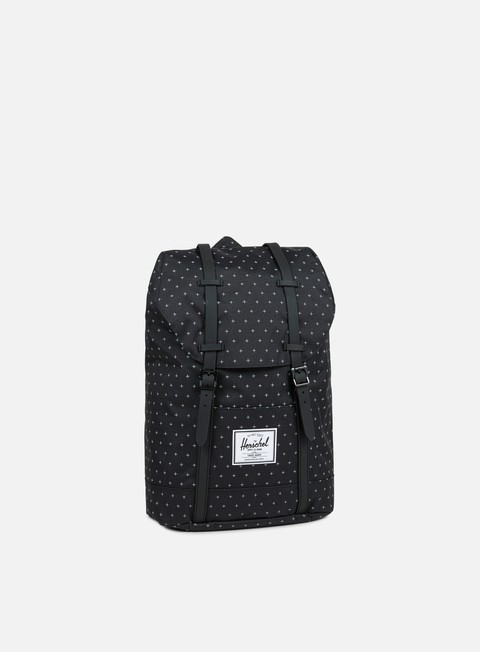 accessori herschel retreat classic backpack black gridlock