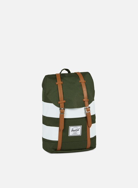 accessori herschel retreat classic backpack forest night white rugby stripe