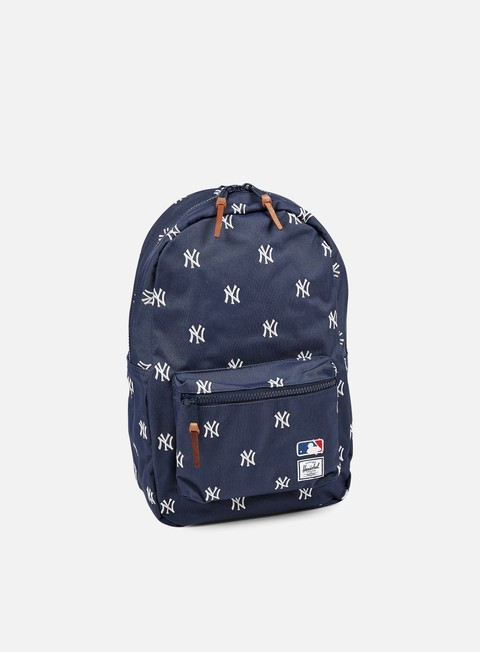 accessori herschel settlement backpack mlb navy white yankees
