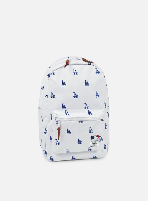 accessori herschel settlement backpack mlb white blue dodgers