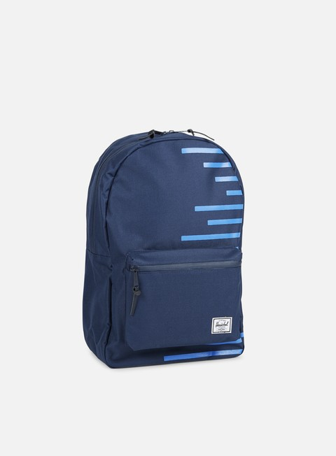 accessori herschel settlement offset backpack navy cobalt