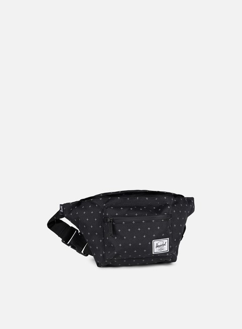 accessori herschel seventeen classic hip sack bag black gridlock