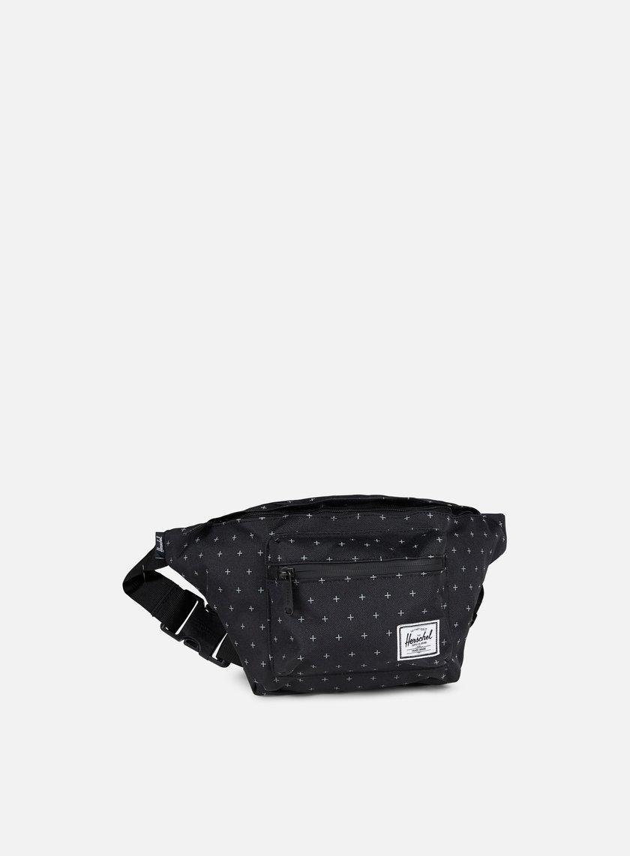 Herschel - Seventeen Classic Hip Sack Bag, Black/Gridlock
