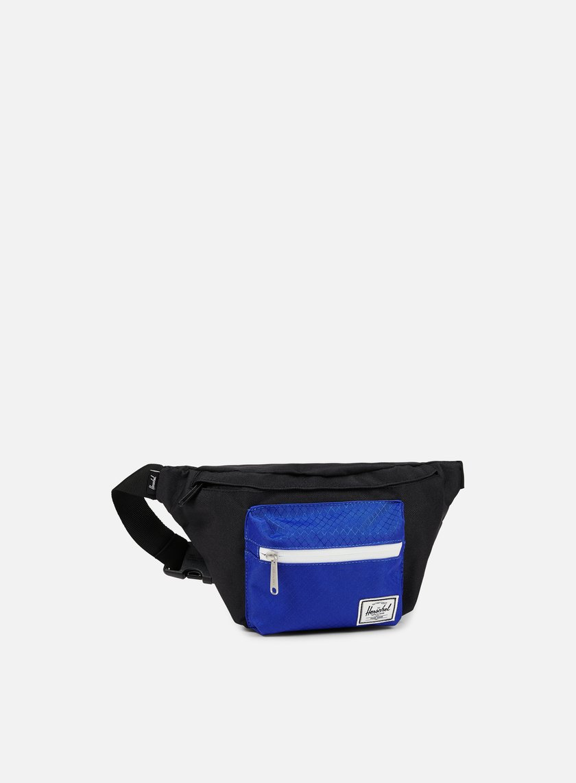 Herschel - Seventeen Classic Hip Sack Bag, Black/Surf The Web