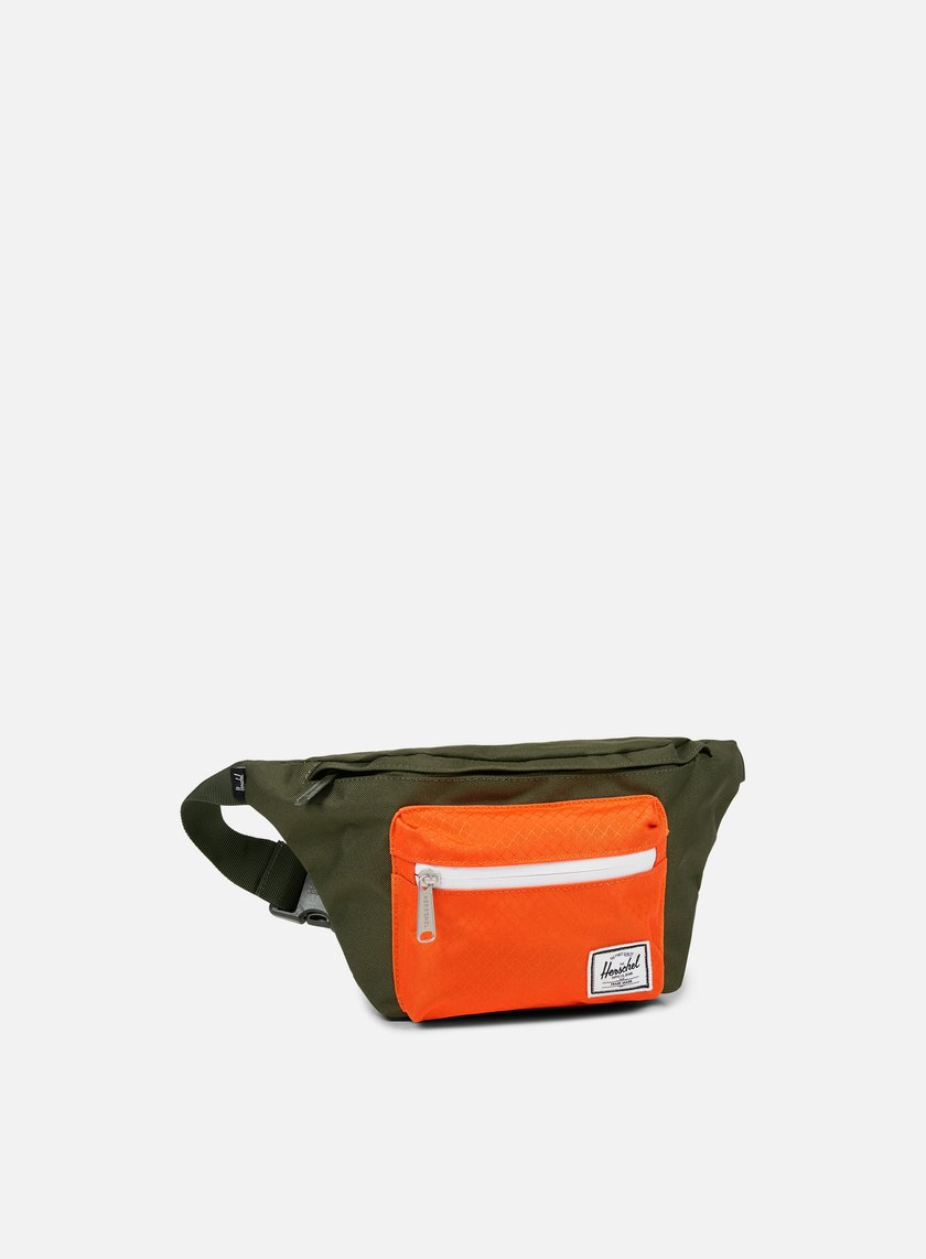 Herschel - Seventeen Classic Hip Sack Bag, Forest Night/Vermillion Orange