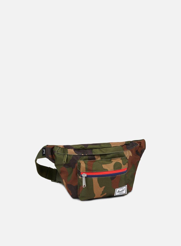 Herschel - Seventeen Classic Hip Sack Bag, Woodland Camo