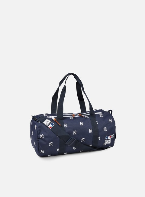 accessori herschel sparwood duffle bag mlb navy white yankees