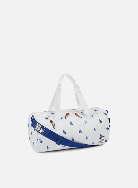 accessori herschel sparwood duffle bag mlb white blue dodgers