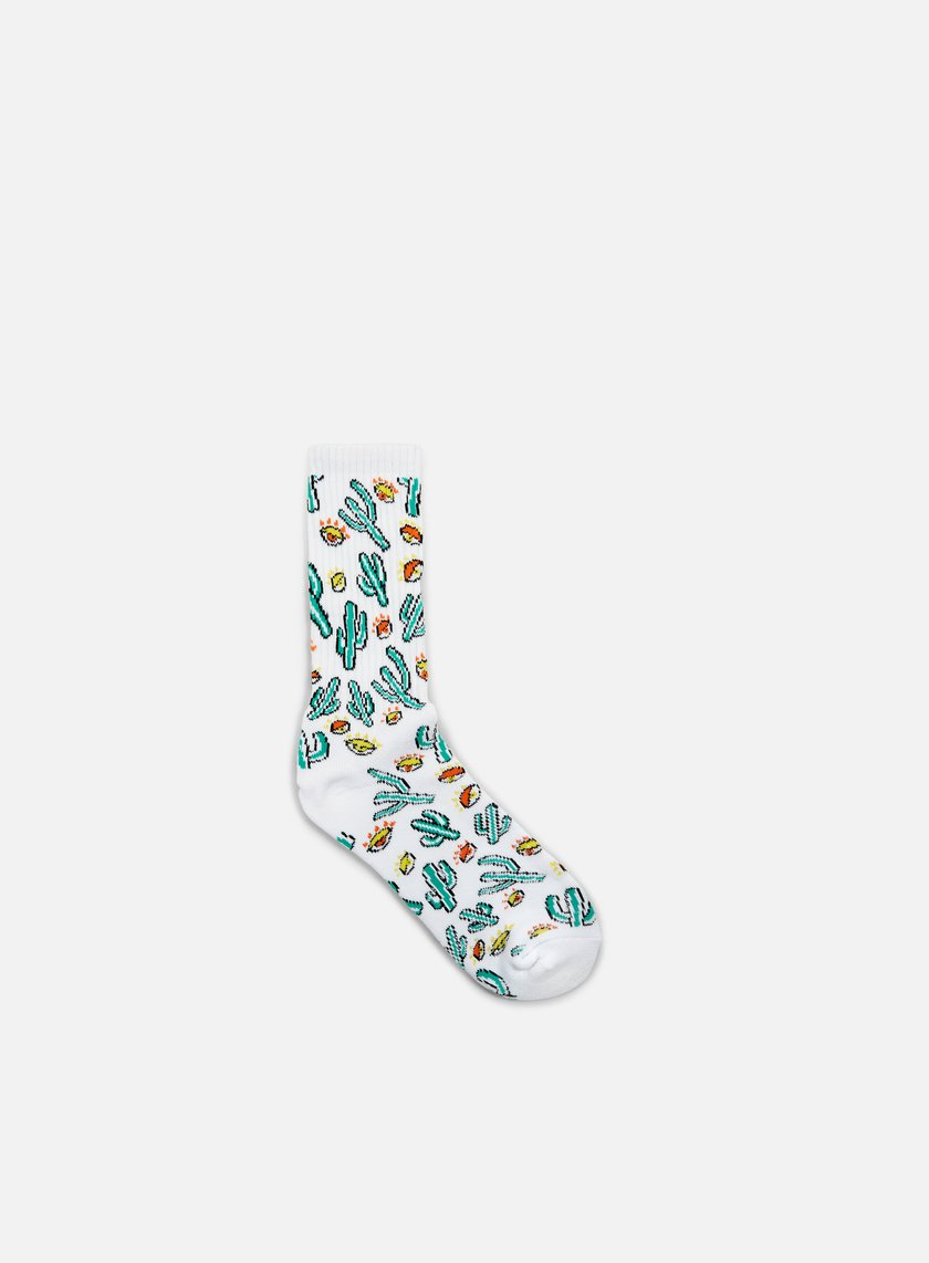 Huf - Anne Freeman Saguaros Have Eyes Crew Socks, White