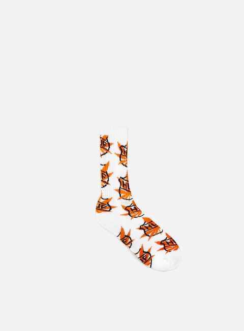 accessori huf faceoff crew socks white