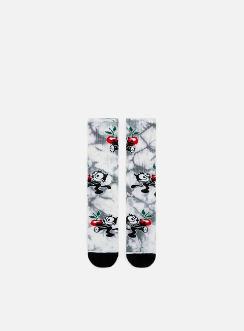 accessori huf felix crystal wash crew socks black