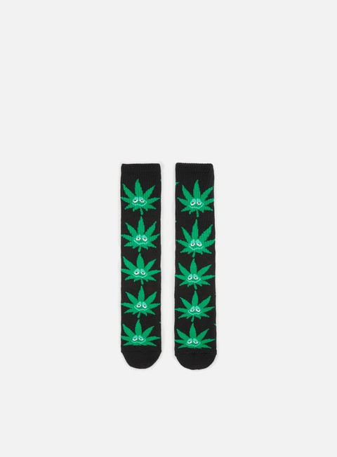 accessori huf green buddy crew socks black