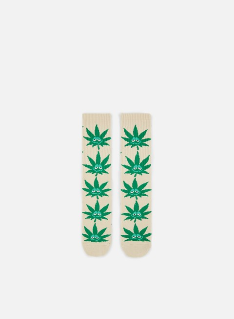 accessori huf green buddy crew socks tan