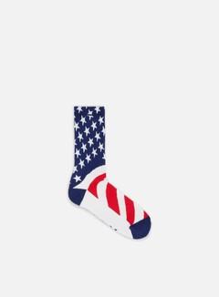 Huf - Huf Fuck It Flag Crew Socks, White 1