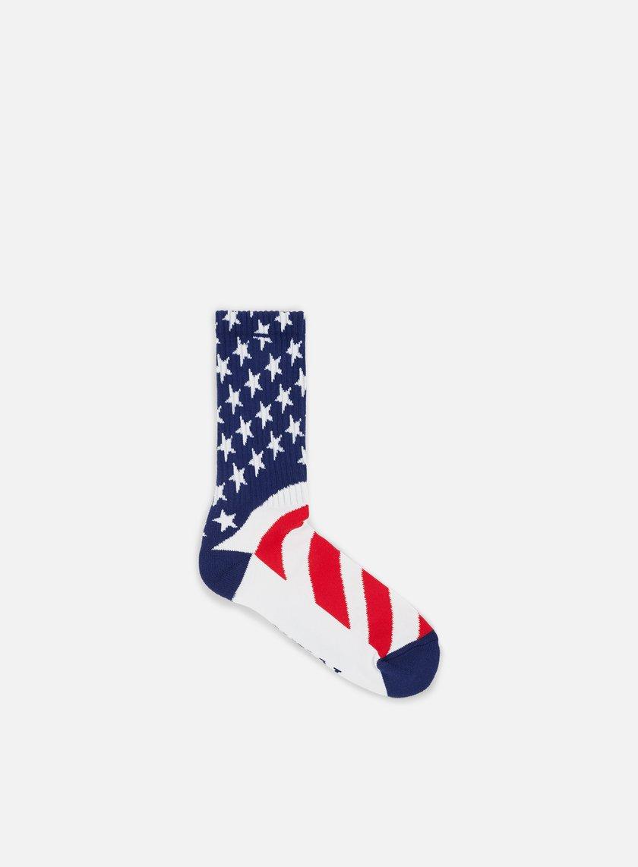 Huf - Huf Fuck It Flag Crew Socks, White