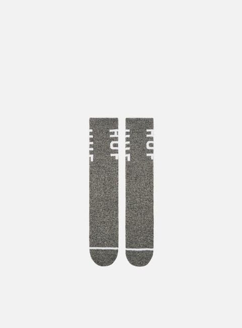 accessori huf melange og logo crew socks black