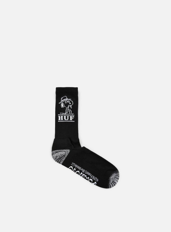 Huf - Peanuts Spike Crew Socks, Black