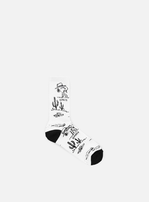 accessori huf peanuts spike needles crew socks white