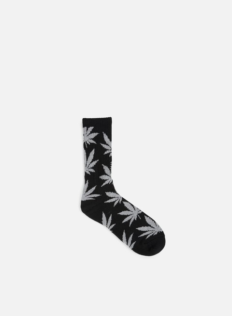 accessori huf plantlife crew socks black black heather grey