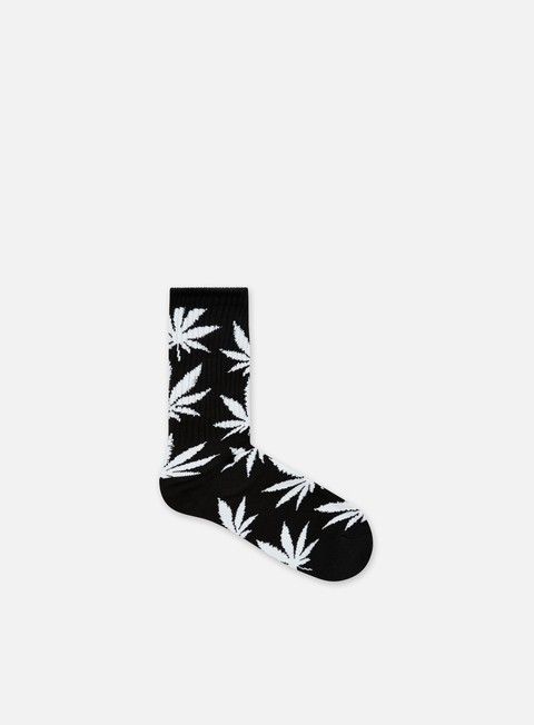 accessori huf plantlife crew socks black white