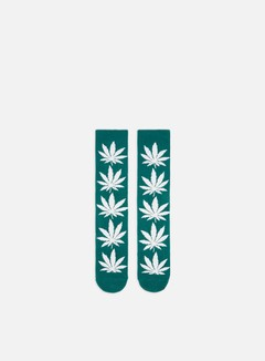 Huf - Plantlife Crew Socks, Botanical Green