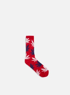 Huf - Plantlife Crew Socks, Red/White/Blue 1