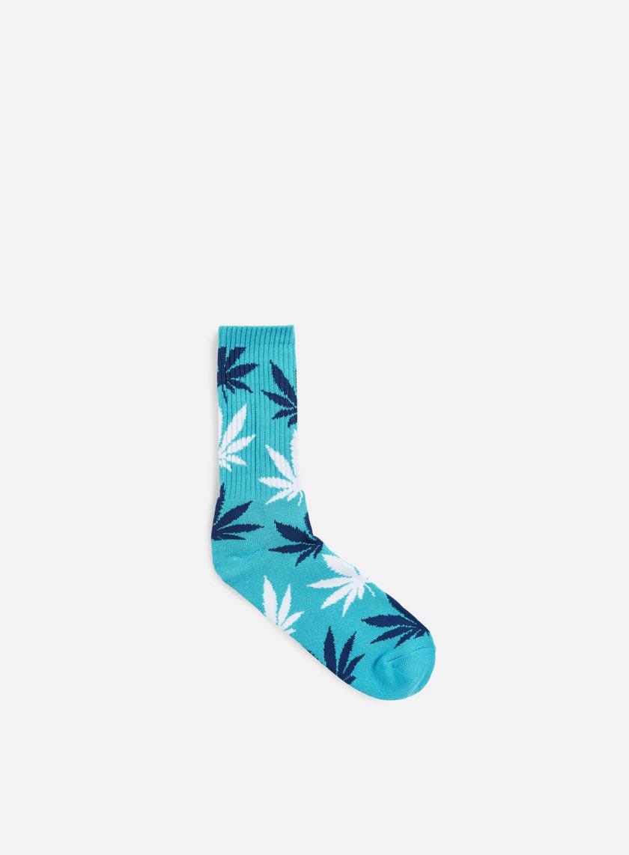 Huf - Plantlife Crew Socks, Turquoise/White/Blue