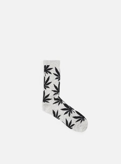 Huf - Plantlife Lite Crew Socks, Grey Heather/Black 1