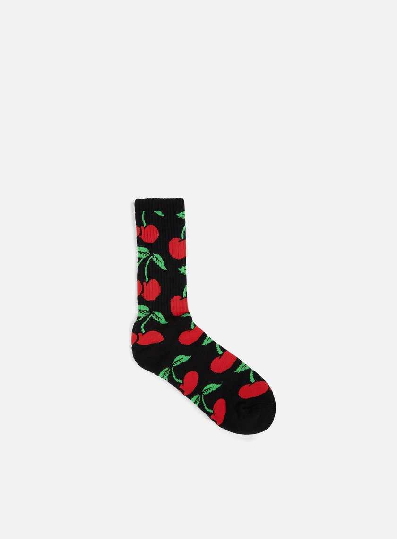 Huf - Pop It Crew Socks, Black