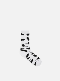 Huf - Ratrace Crew Socks, White 1