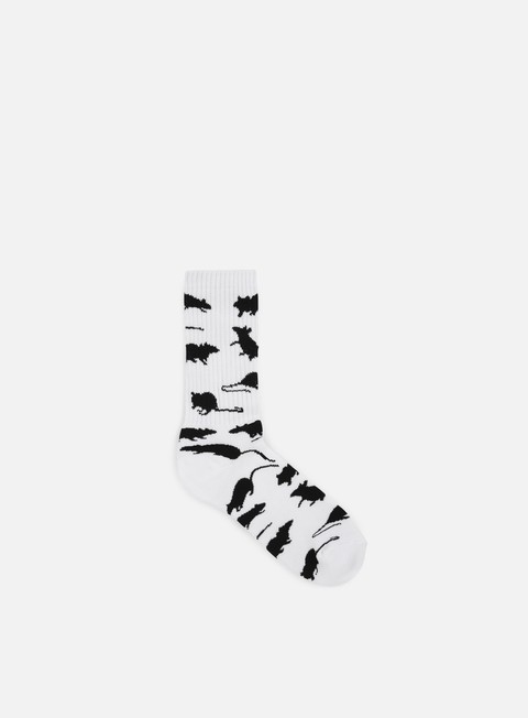accessori huf ratrace crew socks white
