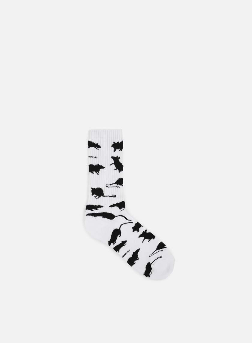Huf - Ratrace Crew Socks, White