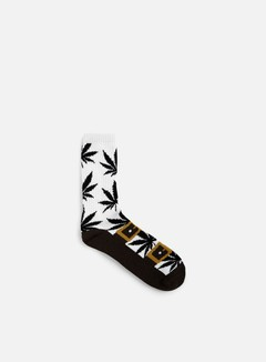 Huf - Recreational Plantlife Crew Socks, Brown 1