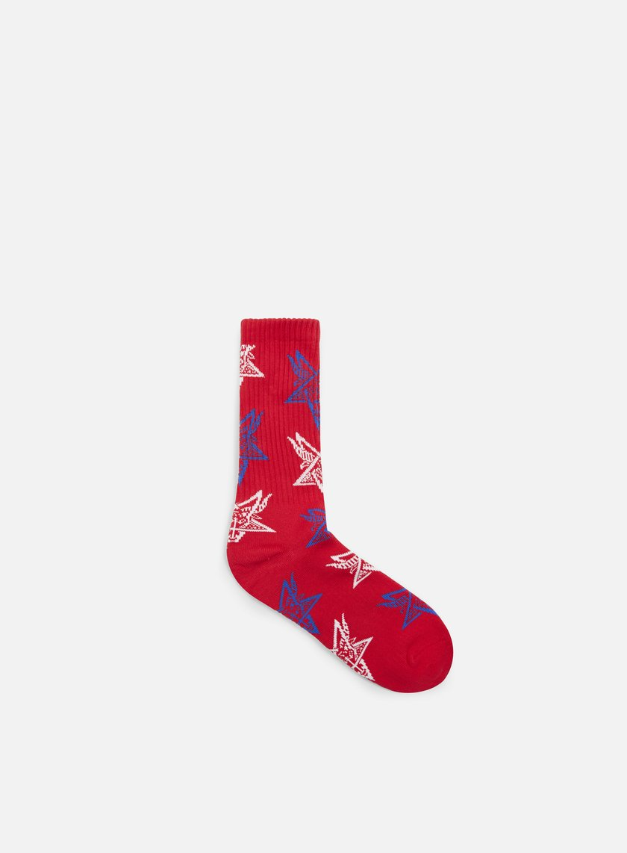 Huf - Thrasher Goat Crew Socks, Red