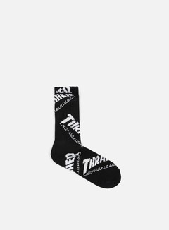 Huf - Thrasher TDS Crew Socks, Black