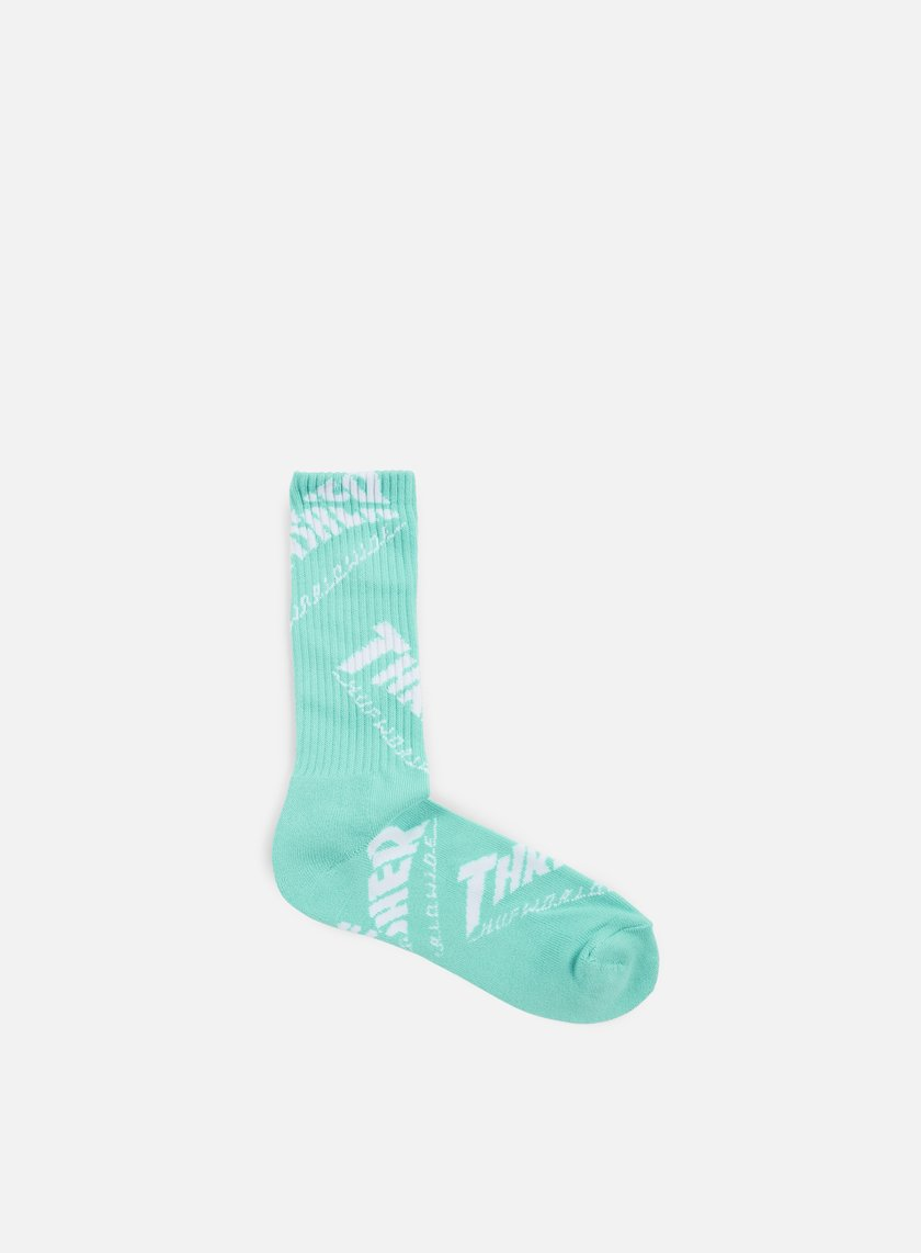 Huf - Thrasher TDS Crew Socks, Mint