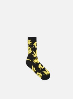 Huf - WWW Crew Socks, Black 1