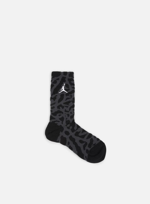 accessori jordan elephant print crew socks black white
